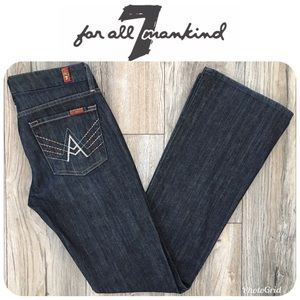 7 FOR ALL MANKIND A Pocket Jeans Sz 28 $199!